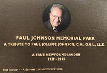 Paul Johnson memorial plaque